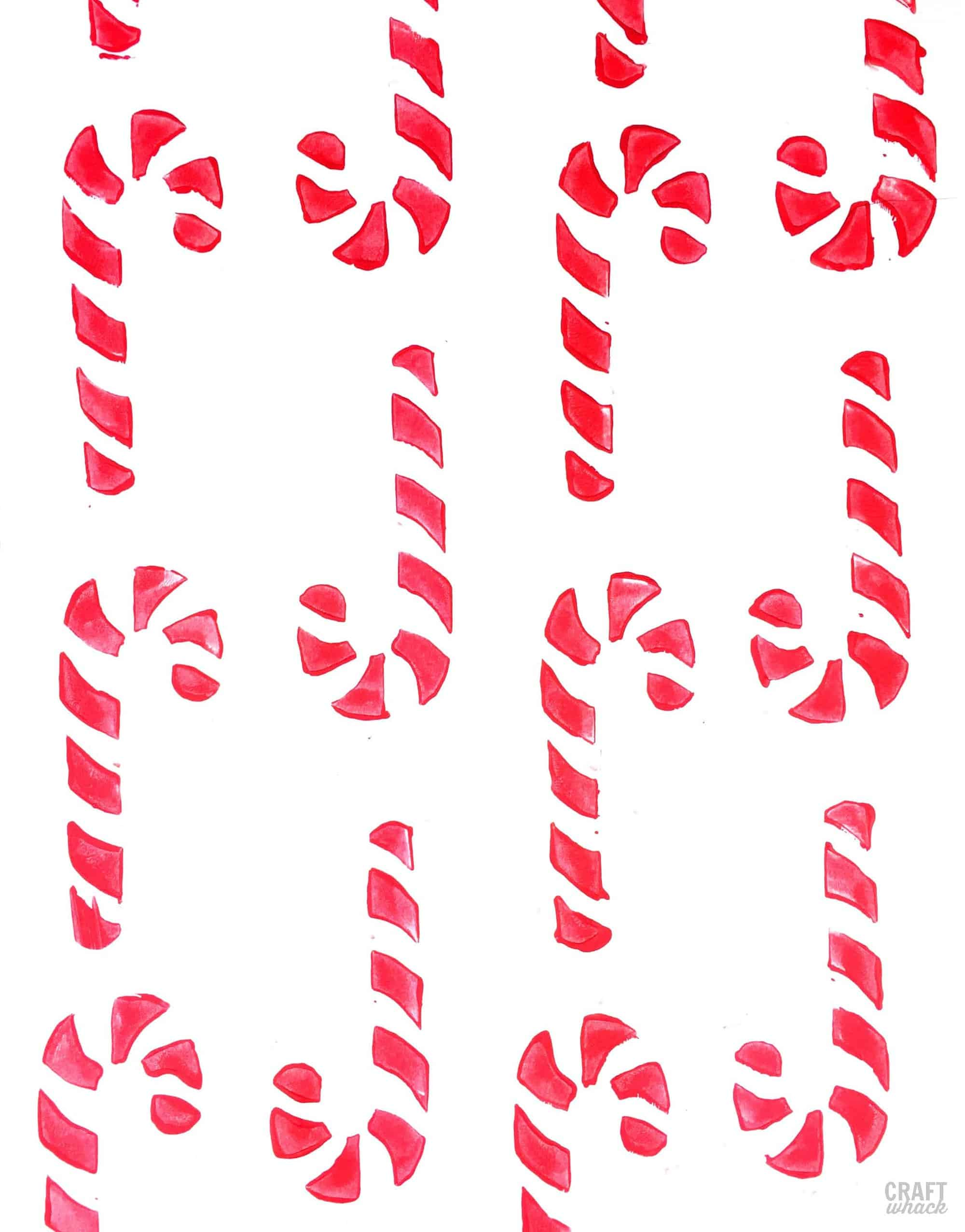 DIY candy cane stamps
