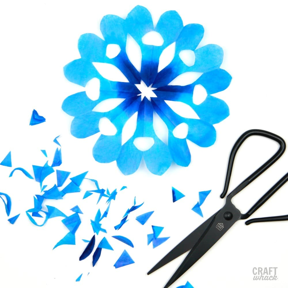 blue snowflake craft