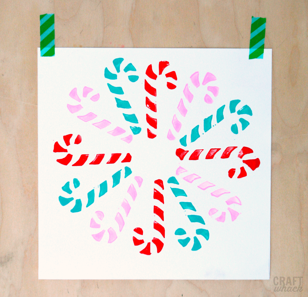 Block Print Candy Canes Make a Rockin' Festive Pattern · Craftwhack