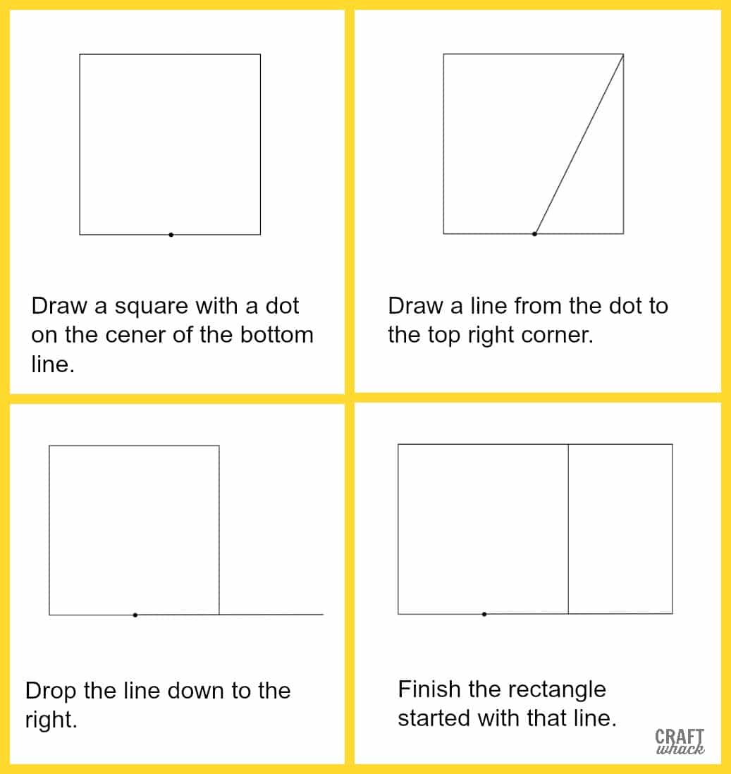 steps to draw a golden rectangle