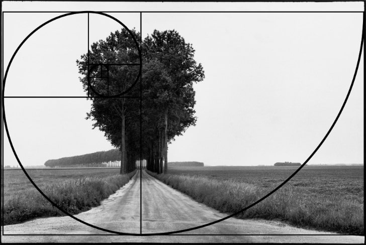 henri cartier bresson photograph showing the golden proportion