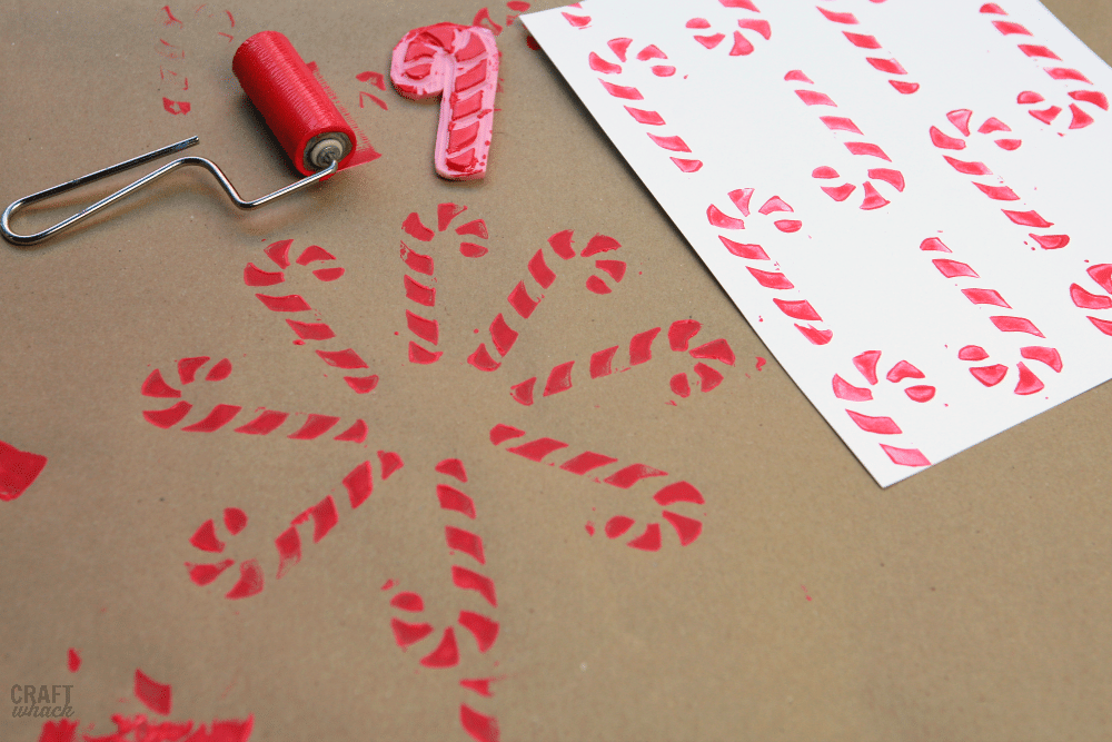 candy cane block prints