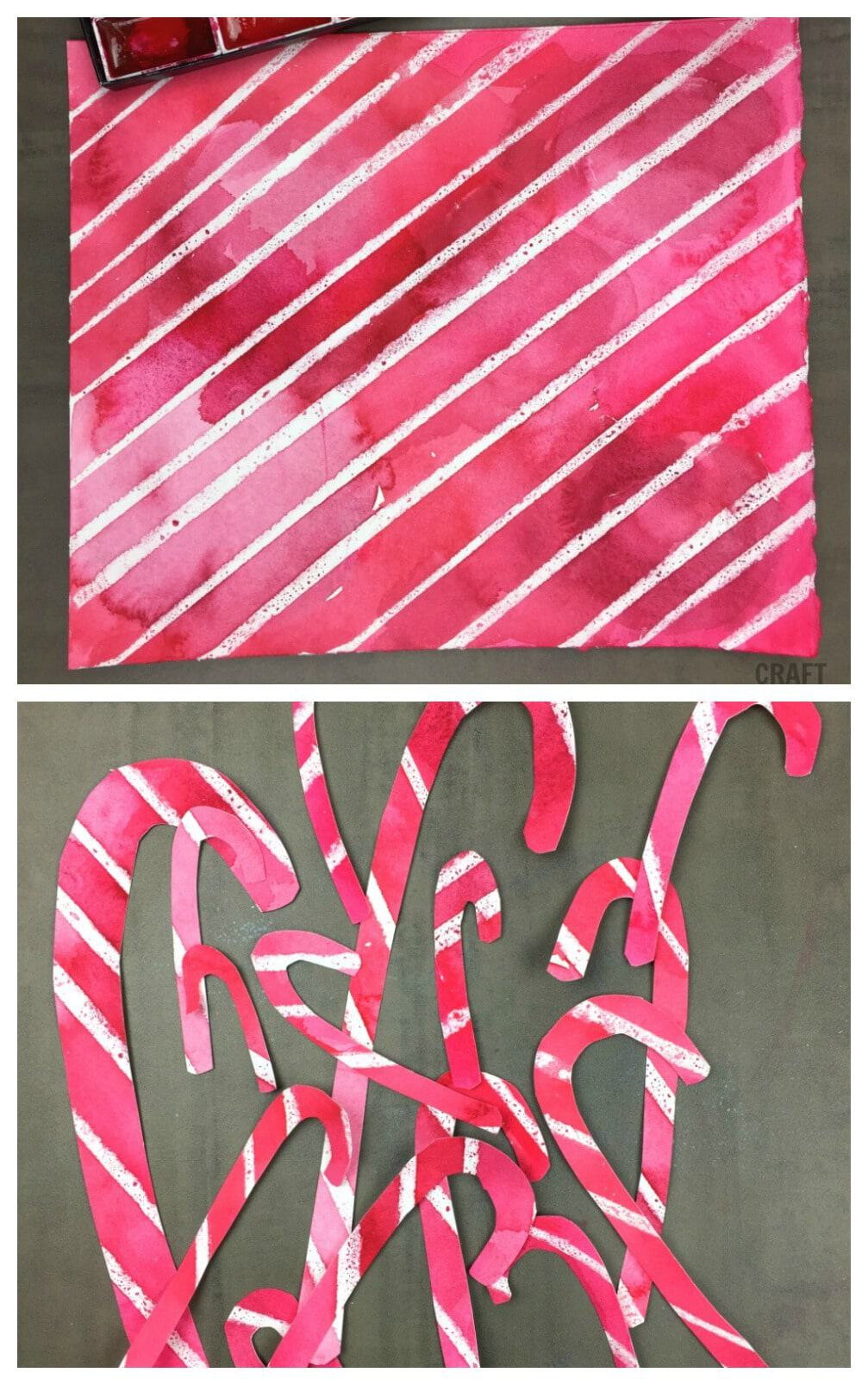 watercolor candy canes