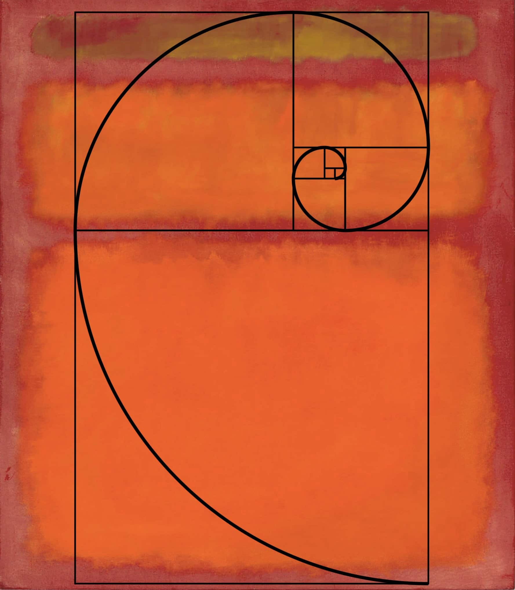 Rothko painting with golden rectangle