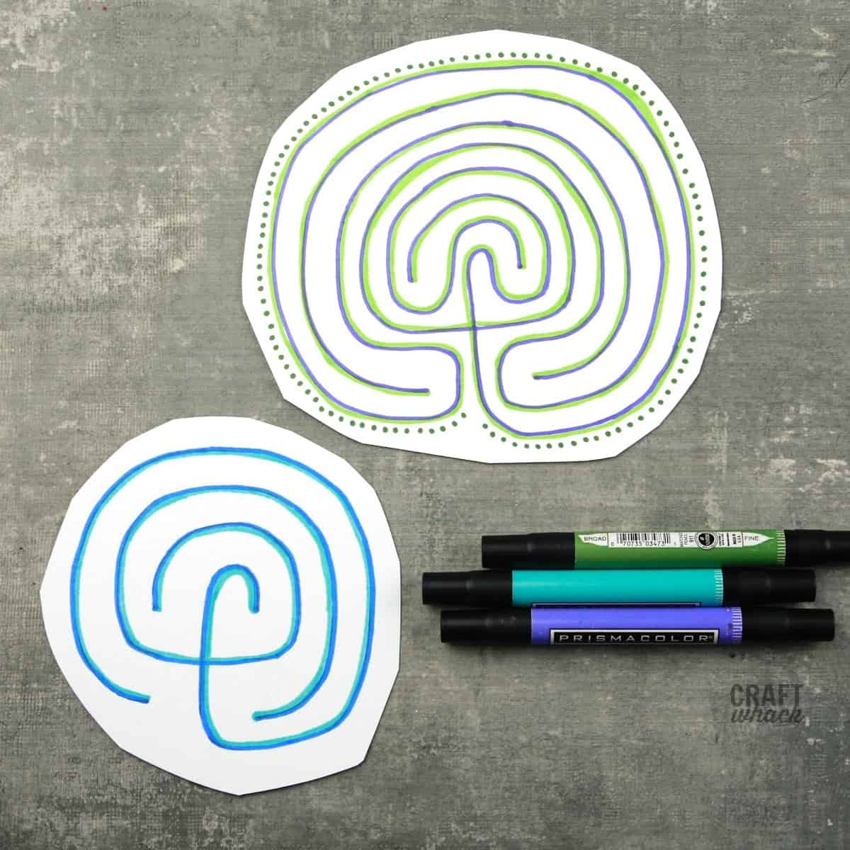 drawn labyrinths