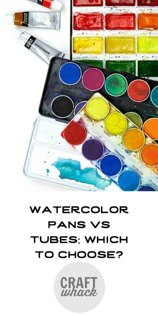 watercolor paints - tubes and pans