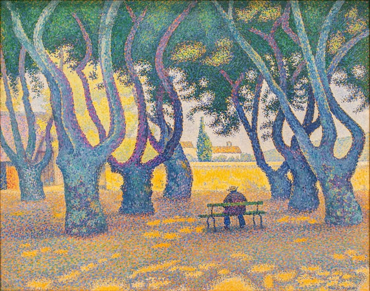 Place Des Lices by Paul Signac, pointillism