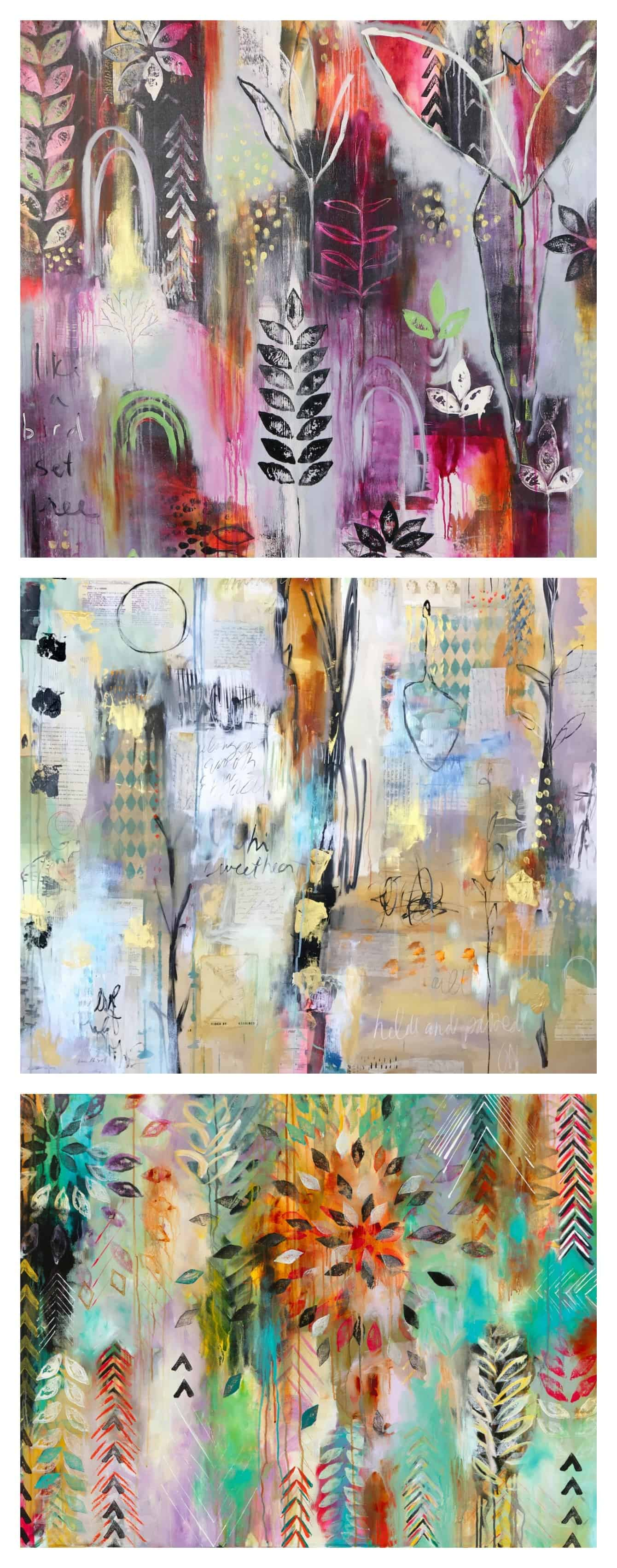 Flora Bowley abstract paintings