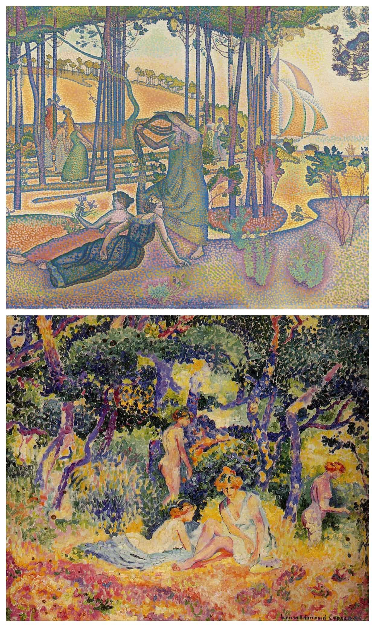 2 paintings by Henri Edmond Cross