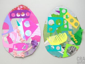 Easter egg collage project
