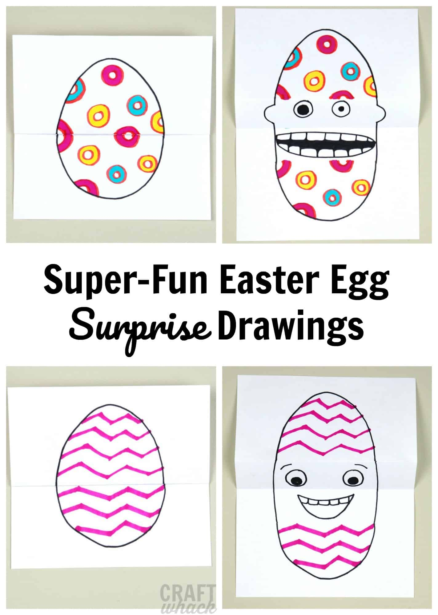 Easter egg drawing project