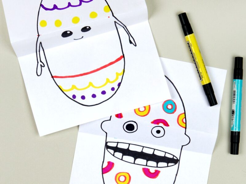 Easter egg drawing idea