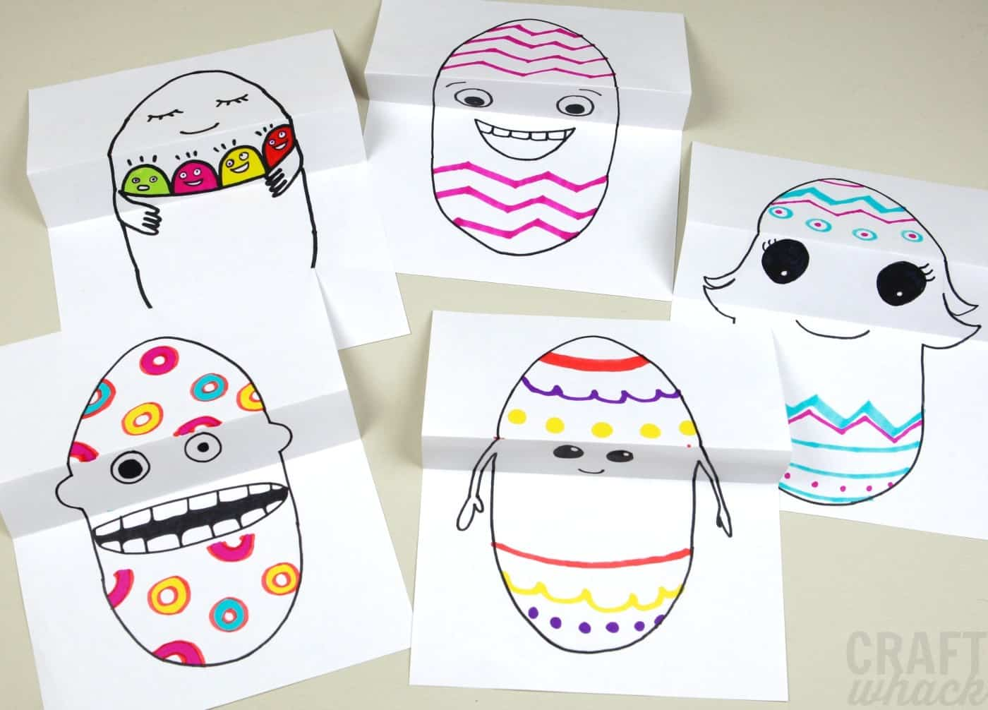 Funny Easter egg drawings