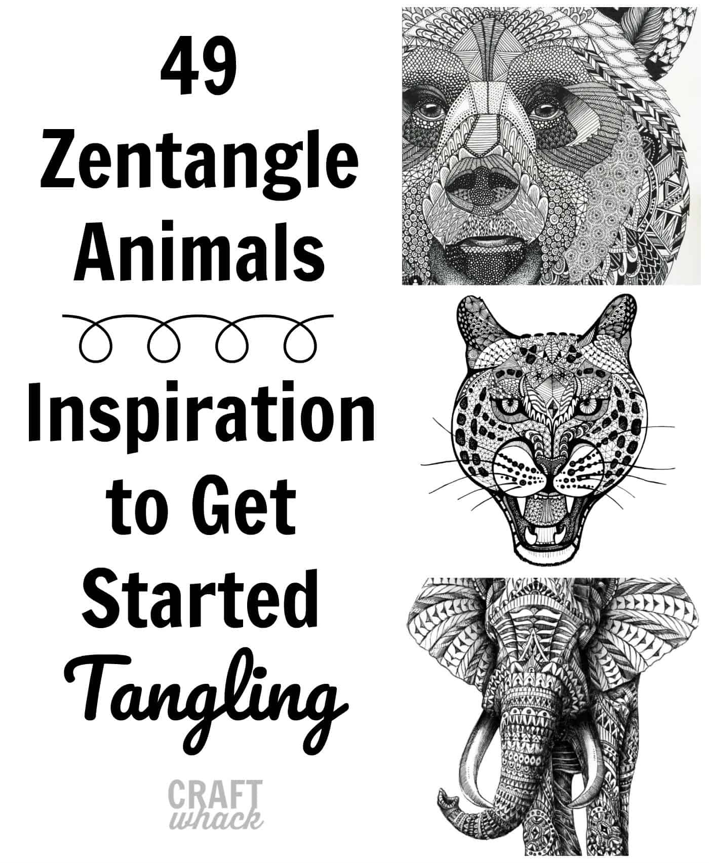 zentangle animal ideas