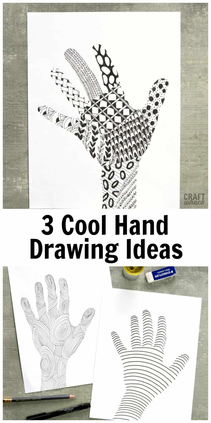 3 Fun Hand-Tracing Drawing Ideas