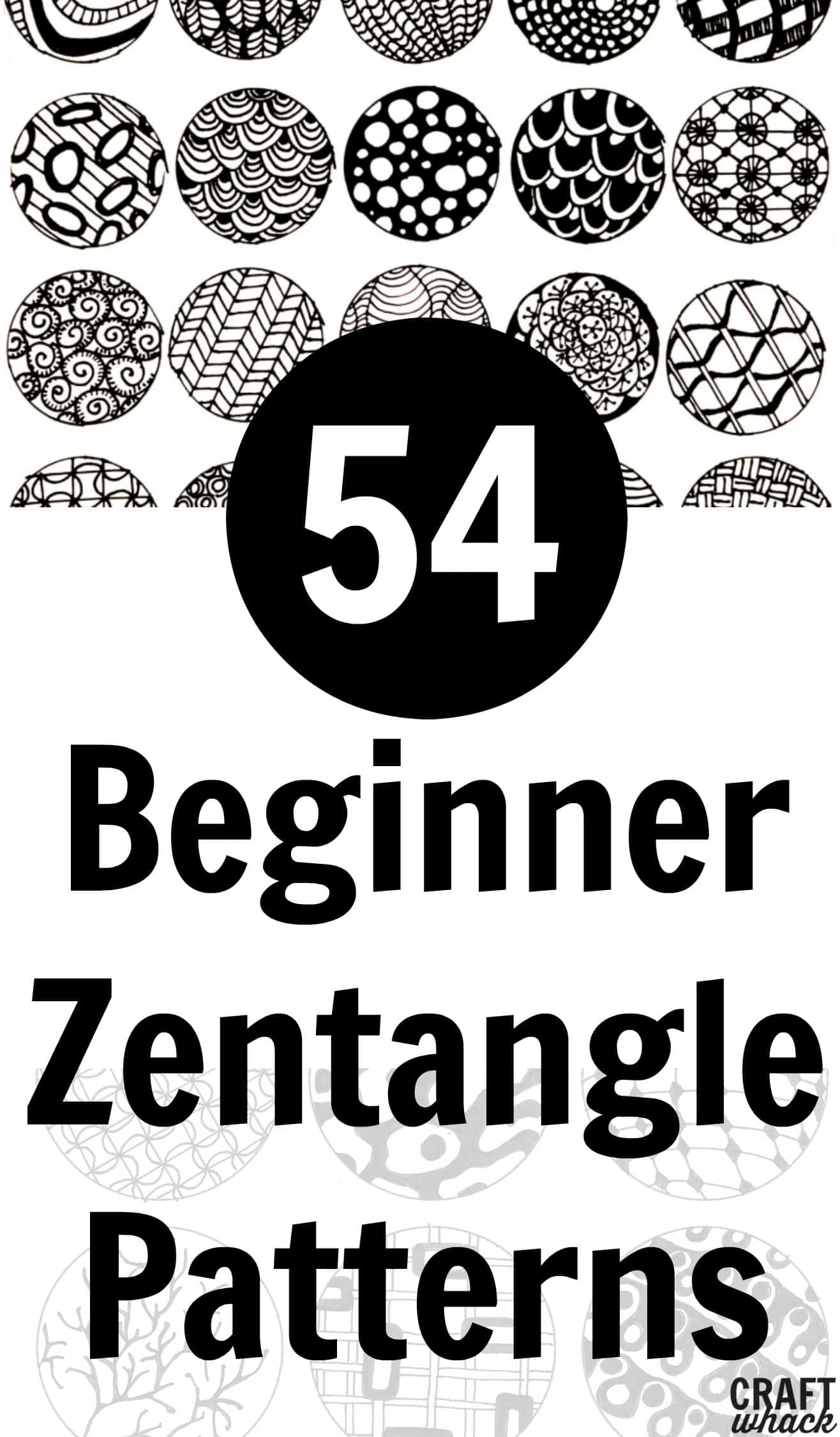 graphic regarding Zentangle Patterns Step by Step Printable named Motivated As a result of Zentangle: Designs and Rookie Webpages · Craftwhack