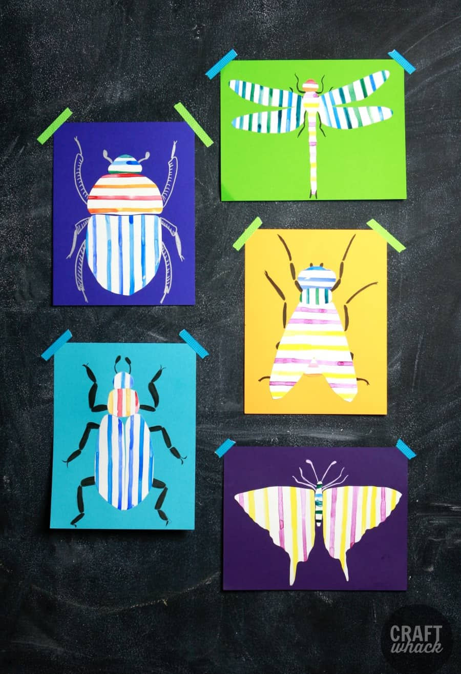 striped bugs art project