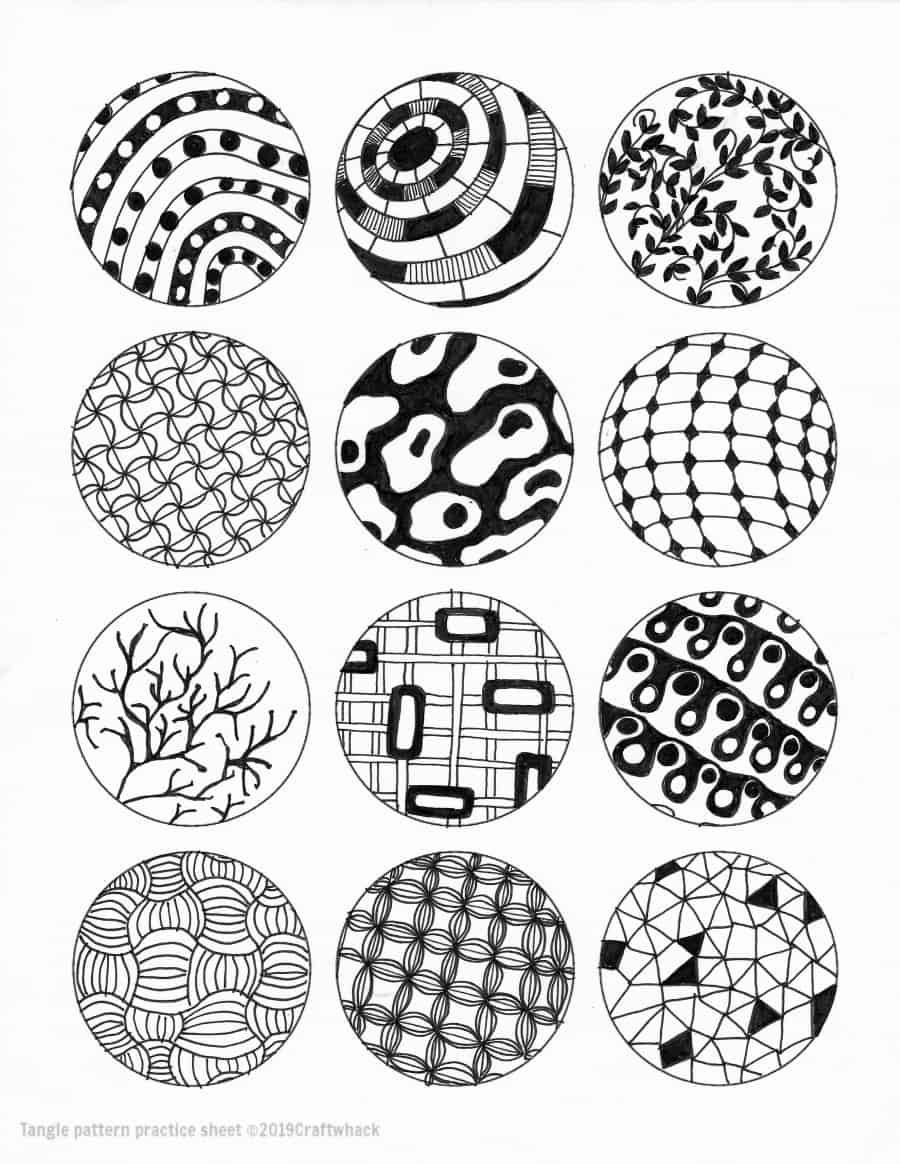 photo relating to Printable Zentangle Patterns known as Encouraged As a result of Zentangle: Styles and Beginner Internet pages · Craftwhack