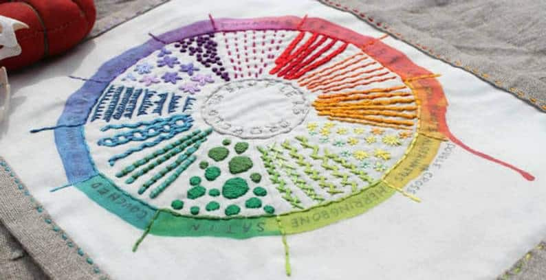 stitched color wheel
