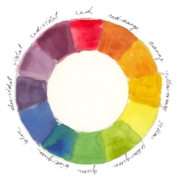 painted color wheel