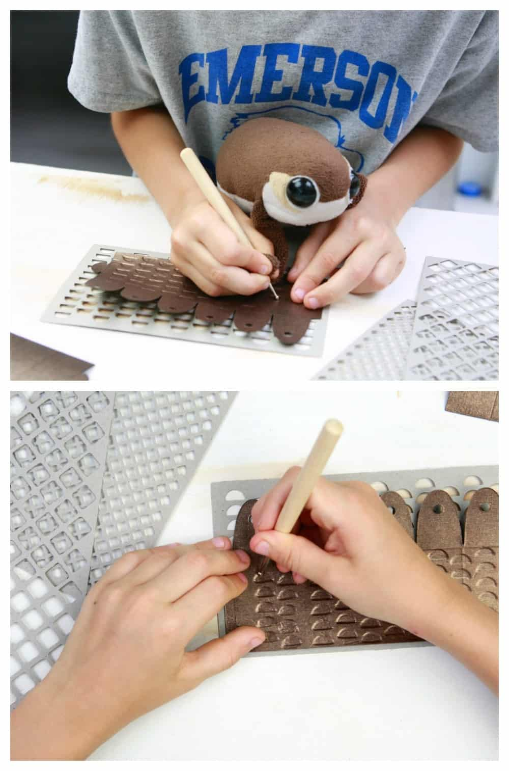 embossed paper lantern craft