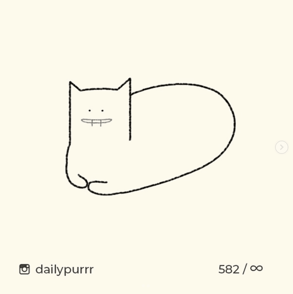 Daily Purrr cat drawing