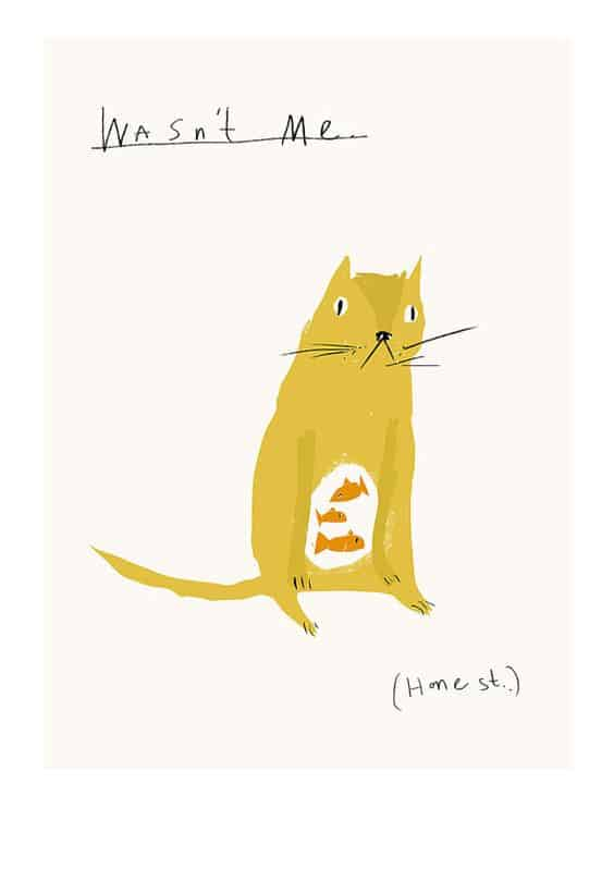 awesome cat illustration by Faye Moorehouse