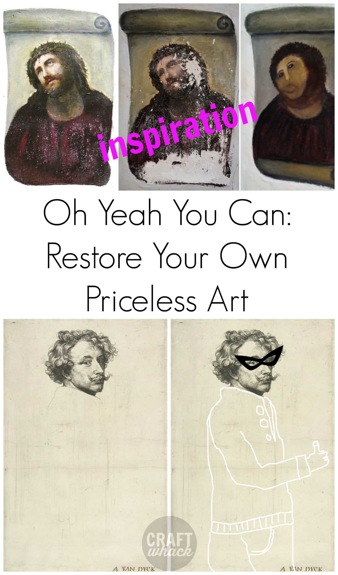 Funny image of badly restored art