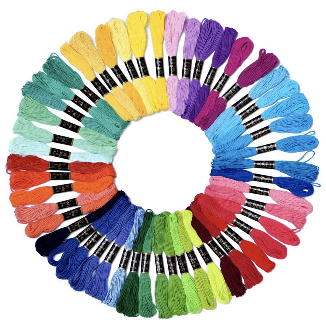 embroidery thread in colors