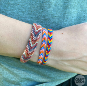 3 diy friendship bracelets on wrist