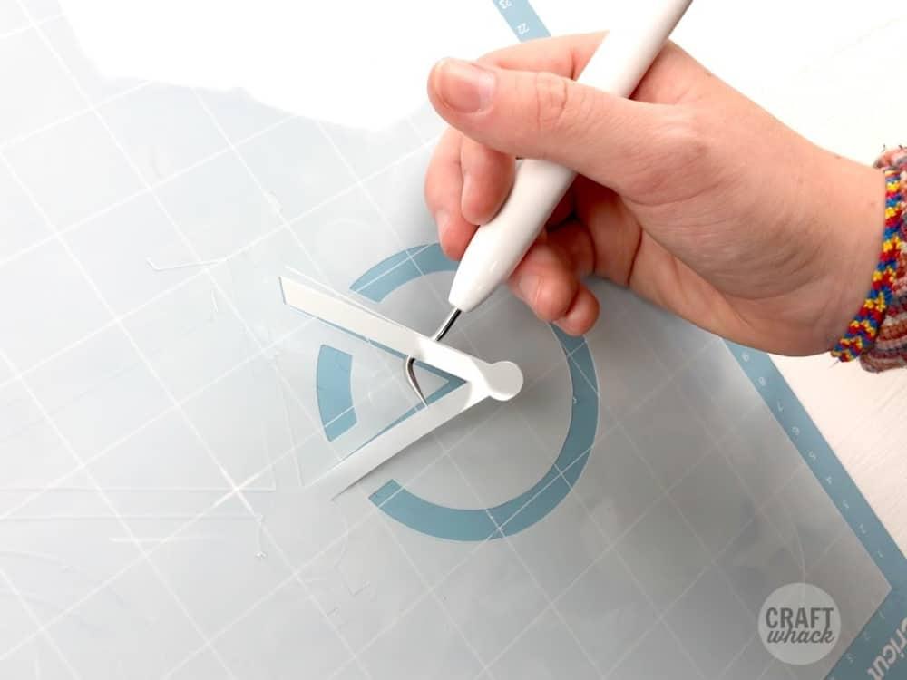 removing stencil cricut mat