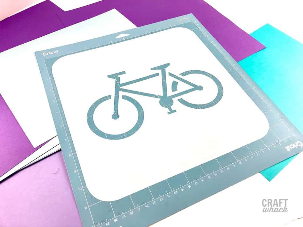 bike cut from stencil plastic
