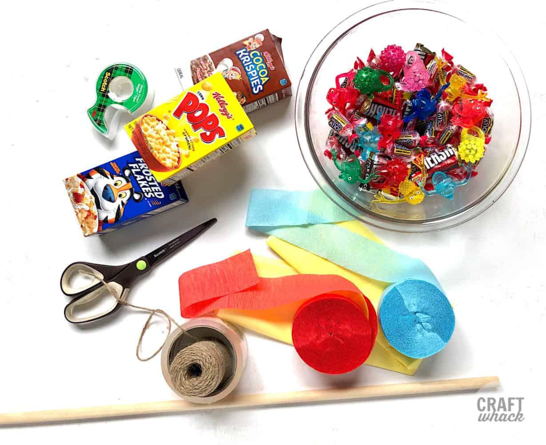supplies to make mini pinata crafts