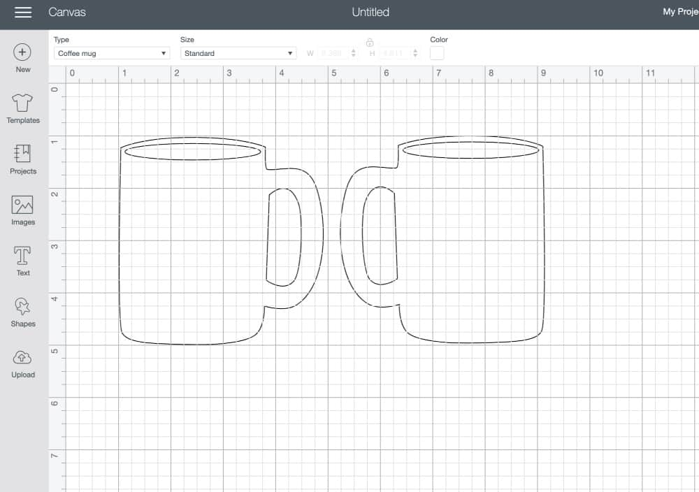 mug template in cricut design space