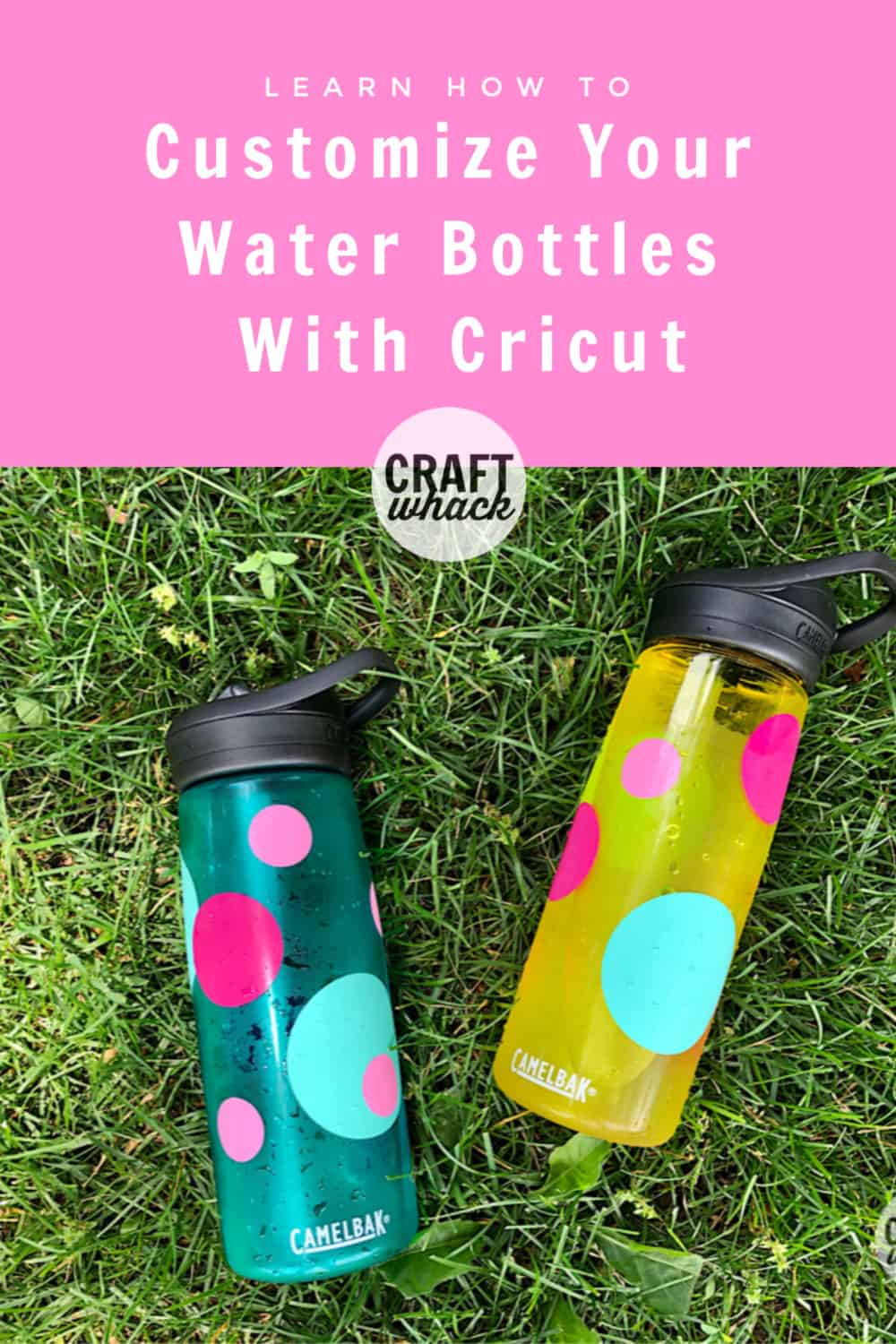 Customized dot water bottles with Cricut Maker