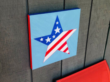 star painting on board for 4th of july