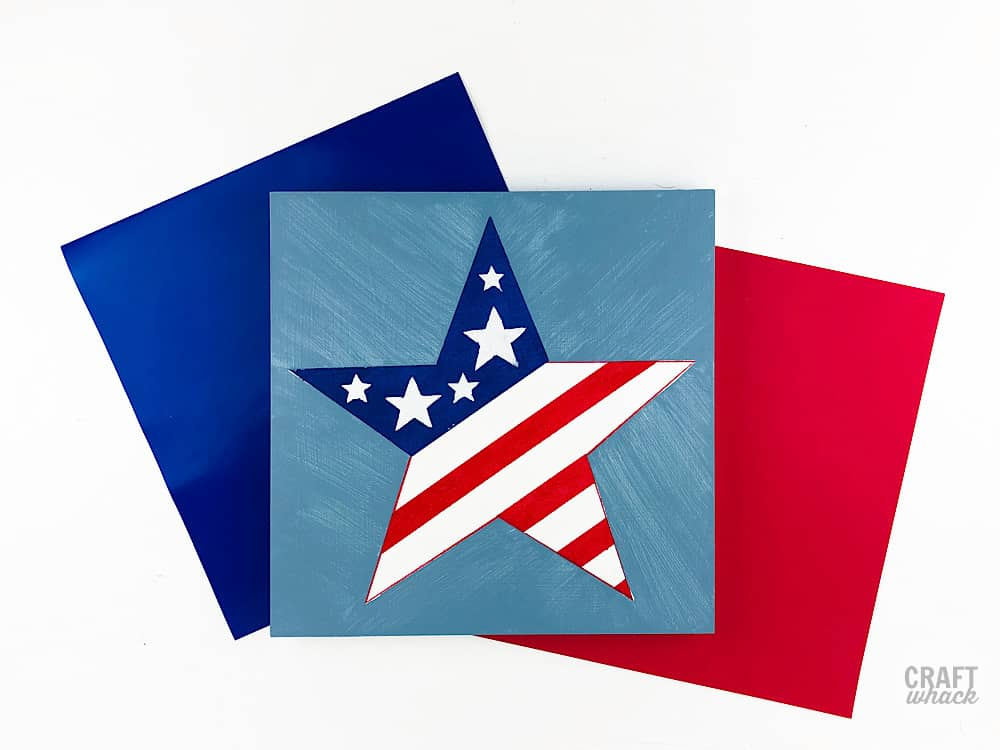 DIY fourth of july star art