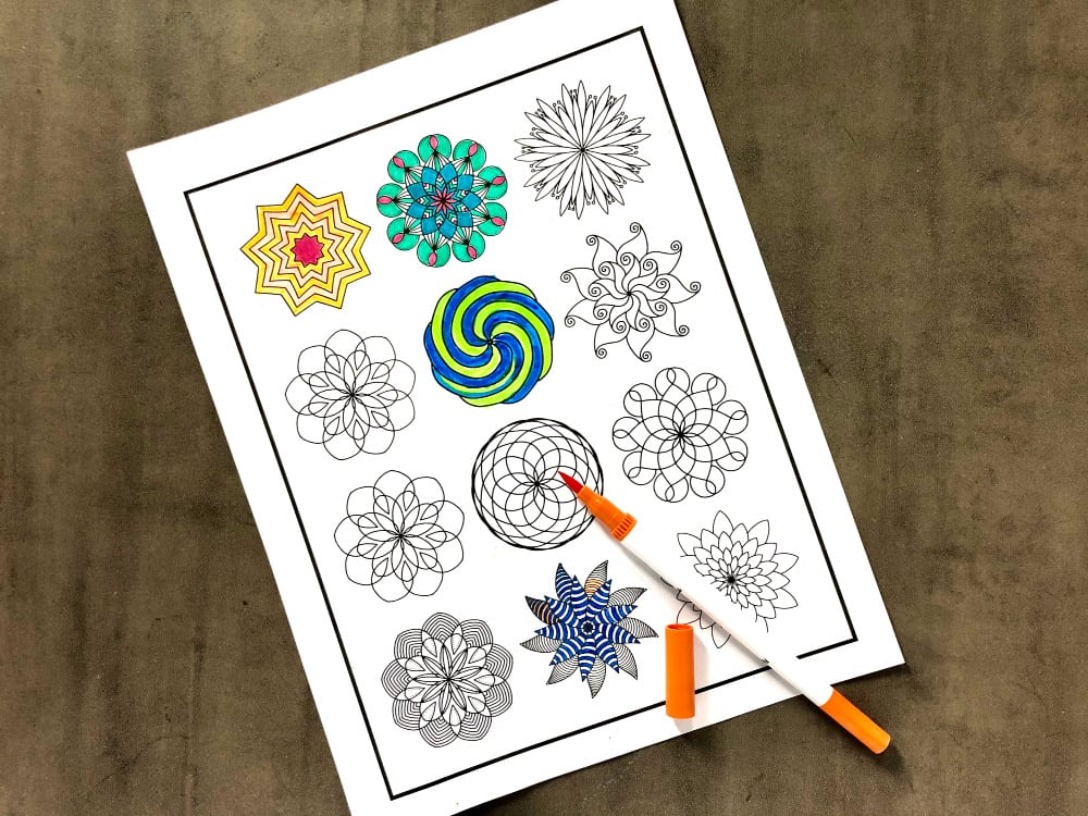 Cricut print then cut coloring stickers