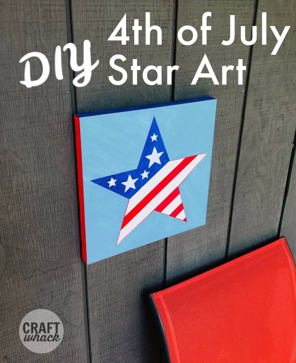 diy fourth of july tape resist painting