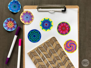 Coloring stickers made on Cricut Maker cutting machine