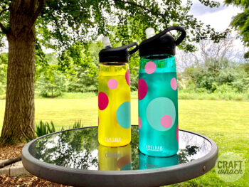 custom vinyl water bottles made with cricut