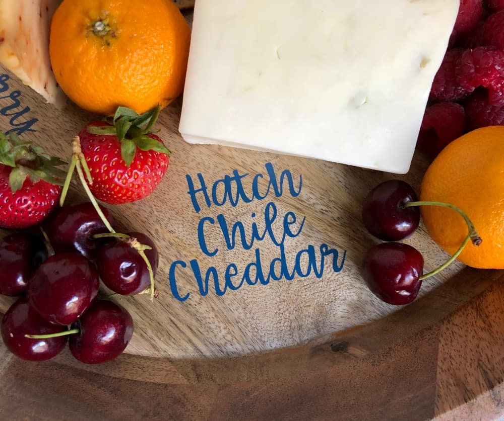 customized cheese tray with cricut