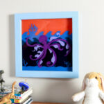 octopus kid wall art