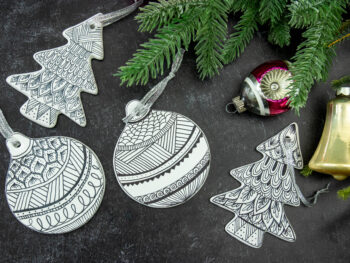 diy christmas ornaments zentangle